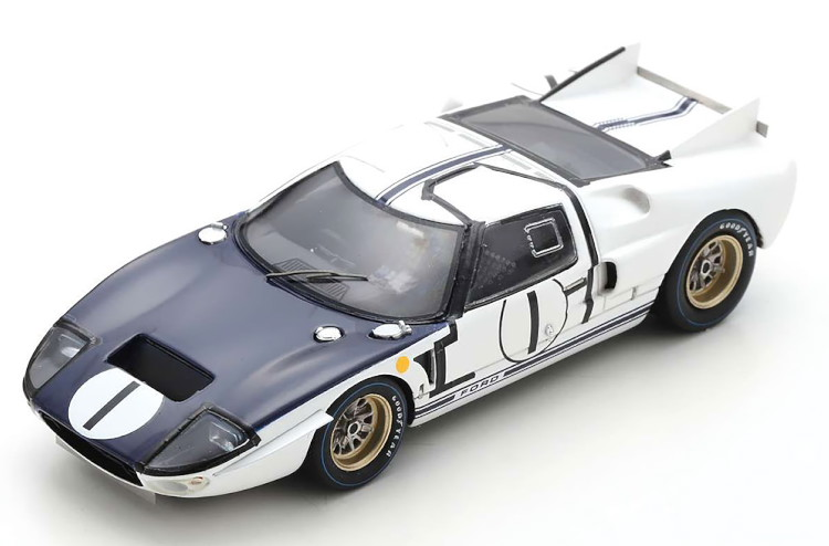 スパーク 1 43 フォード GT40 MK 2 #1 即日出荷 ル マン24時間レース 1965 No 24h Le マクラーレンSpark Ford 1:43 マイルズ 税込 Miles McLaren Mans