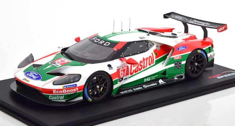 True Scale Miniatures 1/18 フォード GT GTLM #67 デイトナ24時間レース 2019 ホワイト/レッド/グリーン True Scale Miniatures 1:18 Ford GT GTLM #67 Daytona 24 2019 white/red/green