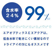 Alcon AIR OPTIX EX AQUA 4boxes (3pieces per box) monthly replacement contact lens