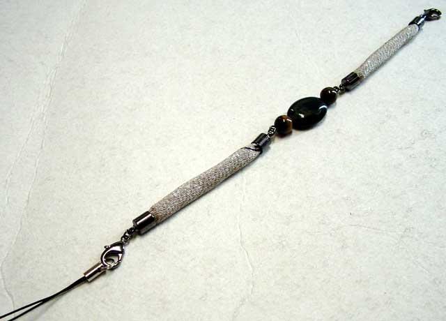 男性用ハイカラさんオリジナル羽織紐ストラップ・ブレスレット-247