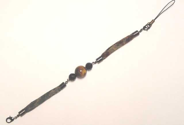 男性用ハイカラさんオリジナル羽織紐ストラップ・ブレスレット-615