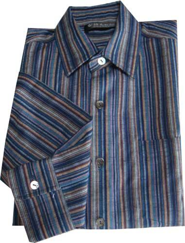 ご予約専用 着心地抜群!会津木綿男性用・紳士用 Yシャツ 長袖Sサイズ1点限り 再入荷はございません。サイズ:袖丈77cm 後身幅51cm 身丈65cm