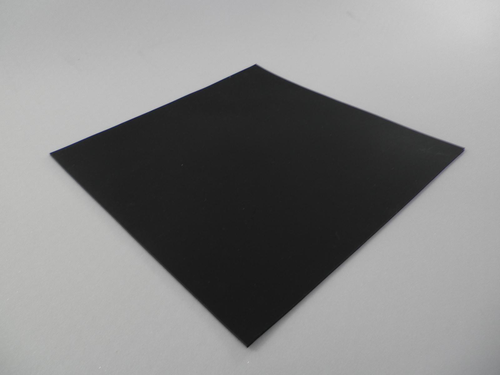 超耐熱(300℃まで可)シリコンゴムシート50°黒  厚さ 2mm×230mm230mm 5枚入り
