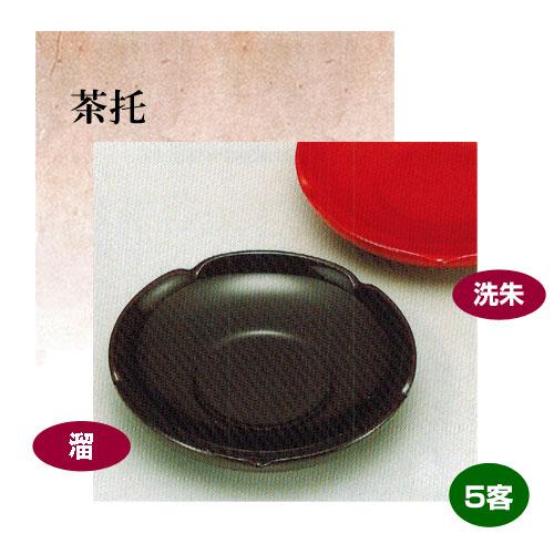 茶托 3.6 梅型 5客 天然木製 漆+ウレタン 合成塗料 誕生日 米寿祝 引き出物 プレゼント ギフト【19-55-5-6】
