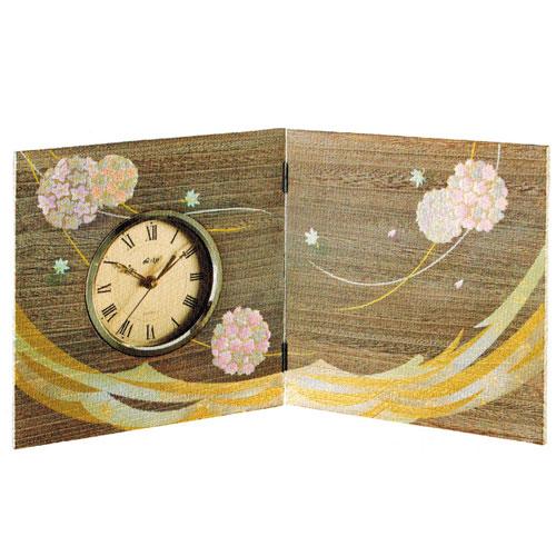 時計 桐 屏風時計 はなてまり 天然木製  誕生日 お祝い返し お悔み返し プレゼント ギフト【19-24-8】