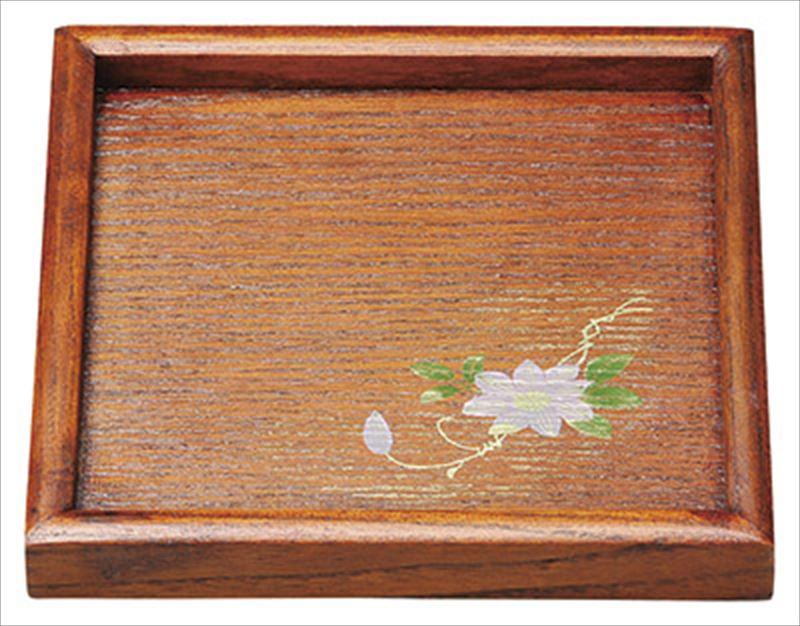ケヤキ塗 ミニ角盆 鉄線 漆 希望者のみラッピング無料 天然木 格安激安 実寸:15.8×15.8×2cm PP袋 20-52-20 中国産品