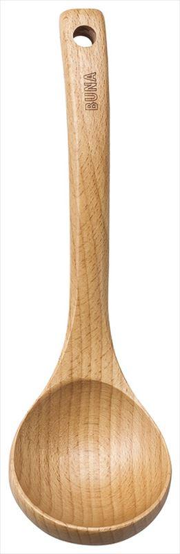 ブナ お玉 大 天然木 中国産品 売れ筋 (訳ありセール 格安) 20-108-3 実寸:22×6.5cm 箱無し