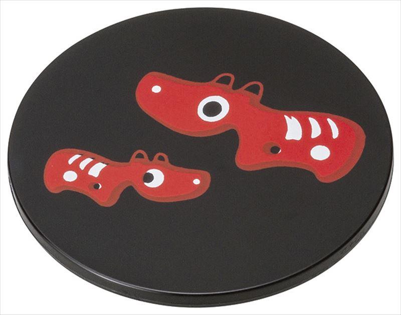 マグネット 赤べこ 黒 アクリル樹脂 会津漆器 国産 実寸:φ5cm PP袋 市販 毎週更新 20-30-11 日本製