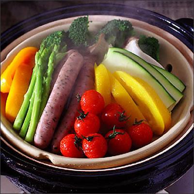 【おはよう日本で紹介】伊賀焼ヘルシー蒸し鍋【大サイズ】アツアツ出来立ての蒸し料理をおいしくつくる! 【マラソン201611】