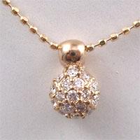 ■K18ピンクゴールド【ダイヤモンド】パヴェマフィン♪ペンダント [代引不可]【楽ギフ_包装選択】