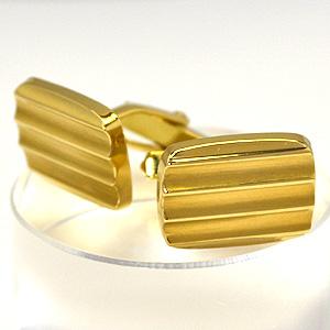 ■K18ゴールド 【西ドイツ製】カフスボタン[代引き不可]【楽ギフ_包装選択】