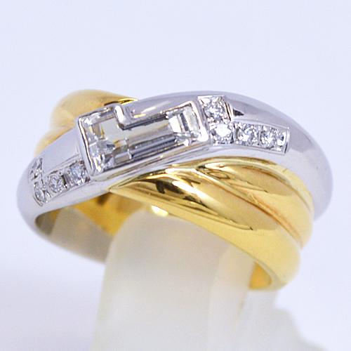 LANCEL[ランセル]■K18ゴールド プラチナPt900【ダイヤモンド デザインリング】00301 [代引不可]【楽ギフ_包装選択】