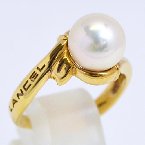 LANCEL[ランセル]■K18ゴールド【パール 真珠 デザインリング】F0195 [代引不可]【楽ギフ_包装選択】