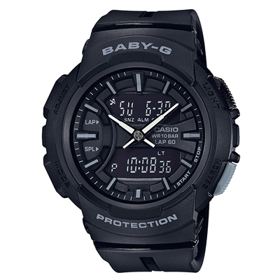 ■CASIO[カシオ] Baby-G【BGA-240 ~for running~ ランニング】ブラック BGA-240BC-1AJF [代引不可]【楽ギフ_包装選択】