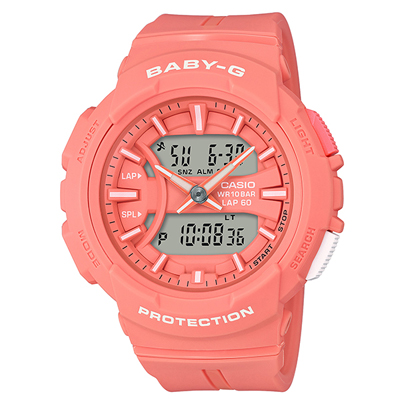 ■CASIO[カシオ] Baby-G【BGA-240 ~for running~ ランニング】ピンク BGA-240BC-4AJF [代引不可]【楽ギフ_包装選択】