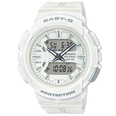 ■CASIO[カシオ] Baby-G【BGA-240 ~for running~ ランニング】ホワイト BGA-240BC-7AJF [代引不可]【楽ギフ_包装選択】