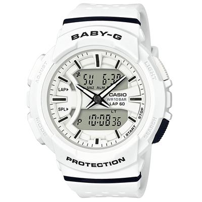 ■CASIO[カシオ] Baby-G【BGA-240 ~for running~】ランニング ホワイト BGA-240-7AJF【楽ギフ_包装選択】