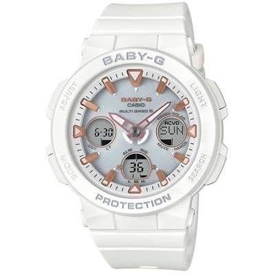 ■CASIO[カシオ] Baby-G【Beach Traveler Series[ビーチ・トラベラー・シリーズ] 電波ソーラー】ホワイト BGA-2500-7AJF [代引不可]【楽ギフ_包装選択】