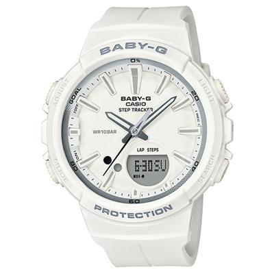 ■CASIO[カシオ] Baby-G【BGS-100~for running~ STEP TRACKER ランニング】ホワイト BGS-100SC-7AJF [代引不可]【楽ギフ_包装選択】