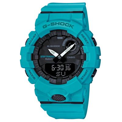 ■CASIO カシオ G-SHOCK【G-SQUAD[ジー・スクワッド]】モバイルリンク機能 Bluetooth ライトブルー GBA-800-2A2JF [代引不可]【楽ギフ_包装選択】.