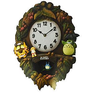 RHYTHM[リズム時計]◆となりのトトロ【トトロM429】振り子時計 掛時計 メロディ付き [4MJ429-M06]【楽ギフ_包装選択】