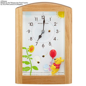 ■RHYTHM リズム時計【ディズニー くまのプーさん オルゴール目覚まし時計】4RM761MC06 [代引不可]【楽ギフ_包装選択】.