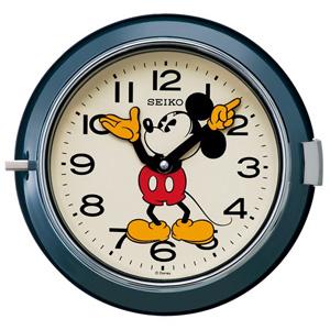 ■SEIKO[セイコー] 【大人ディズニー レトロ ミッキー】掛時計 ネイビー FS504L【楽ギフ_包装選択】