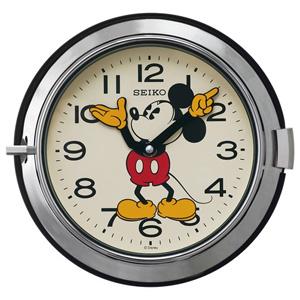 ■SEIKO[セイコー] 【大人ディズニー レトロ ミッキー】掛時計 シルバー FS504S [代引不可]【楽ギフ_包装選択】