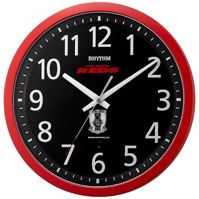 ■リズム時計 電波掛時計【URAWA REDS 浦和レッドダイヤモンズ】浦和レッズ 8MY523RD01【楽ギフ_包装選択】.