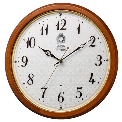 リズム時計■スタジオジブリ 電波掛時計【となりのトトロ】木枠 8MY534MN06  [代引不可]【楽ギフ_包装選択】