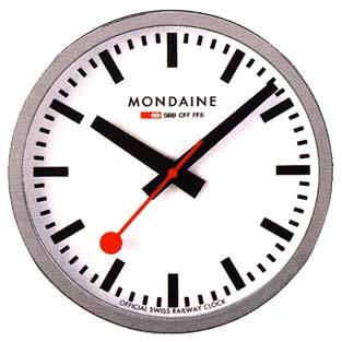 ◆正規品◆モンディーン(MONDAINE)【ウォール クロック(壁時計)ホワイト】A990.CLOCK.16SBB [代引不可]【楽ギフ_包装選択】