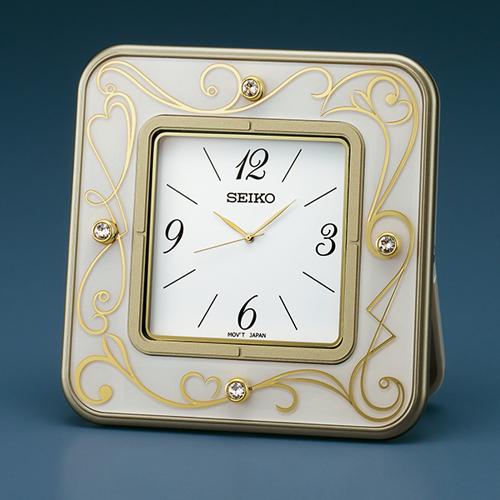 ■セイコー SEIKO【L'espoir レスポワール 小型置時計】クオーツ ホワイト UF802W [後払い不可]【楽ギフ_包装選択】