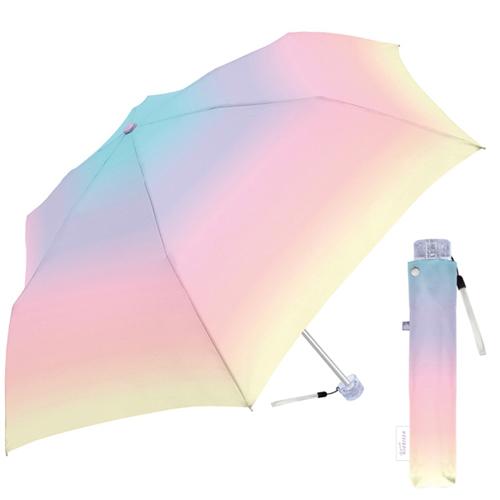 限定価格セール 即納 ☆オススメ 流行のグラデーションカラー ■クラックス 送料無料でお届けします ミルキートーンアンブレラ 折りたたみ傘 折傘 雨具 MLT ギフト不可 CR-431672 マルチカラー ゆめかわ 後払不可 グラデーション .