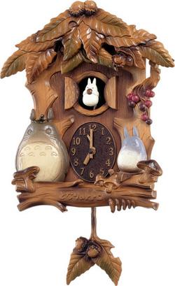 ◆リズム時計 となりのトトロ【森の家】からくり掛け時計(4MJ806MA06) [代引不可]【楽ギフ_包装選択】.