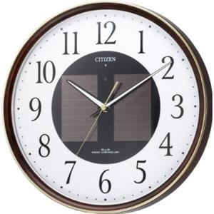 電池不要!◆シチズン ソーラー電波掛け時計【乾電池レスのエコライフ電波時計】M807 4MY807-023 [代引不可]【楽ギフ_包装選択】.