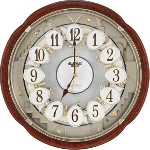 ■リズム時計【スモールワールドコンベルS 電波掛け時計】からくり掛け時計 4MN480RH23【楽ギフ_包装選択】.