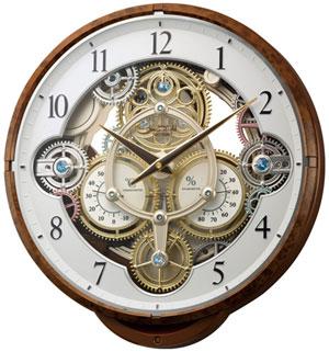 トゥールビヨンのような美しさ■RHYTHM リズム時計【スモールワールドシーカー 電波掛け時計】からくり掛け時計 4MN515RH23【楽ギフ_包装選択】.