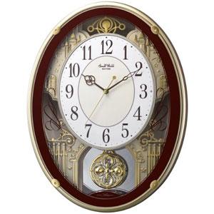 ■リズム時計【スモールワールドプラウド 電波掛け時計】 アミュージング時計 4MN523RH06 [代引不可]【楽ギフ_包装選択】