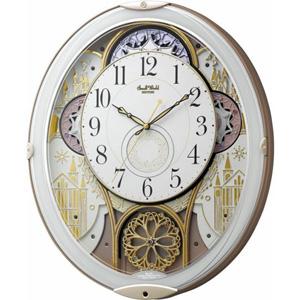 ■リズム時計【スモールワールドノエルN】電波掛時計 からくり時計 [白] 4MN539RH03 [代引不可]【楽ギフ_包装選択】