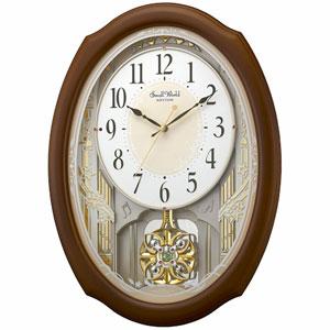 ■リズム時計【スモールワールドセレブレ 電波掛け時計】 アミュージング時計 4MN541RH06 [代引不可]【楽ギフ_包装選択】