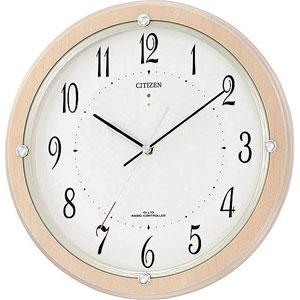 ■CITIZEN シチズン【ソーラー電波時計】掛時計 掛置兼用 スタンド付 木枠 4MY798-007【楽ギフ_包装選択】