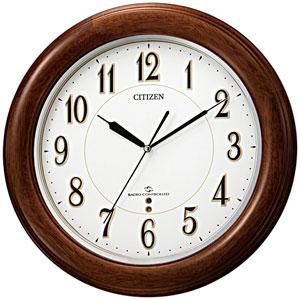 ■シチズン【スリーウェイブ M824】電波時計 掛時計 木枠 4MY824-006 [代引不可]【楽ギフ_包装選択】