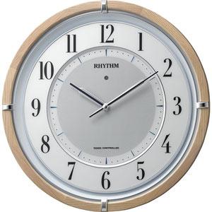 ■リズム時計【サイレントソーラー M848】ソーラー電波時計 掛時計 木枠 4MY848SR06 [代引不可]【楽ギフ_包装選択】