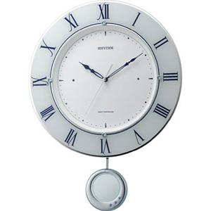 ■RHYTHM[リズム時計]【トライメテオ】電波振子時計 掛け時計 8MX402SR03 [代引不可]【楽ギフ_包装選択】.