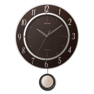 ■RHYTHM[リズム時計]【トライメテオDX】電波振子時計 掛け時計 8MX403SR23 [代引不可]【楽ギフ_包装選択】.