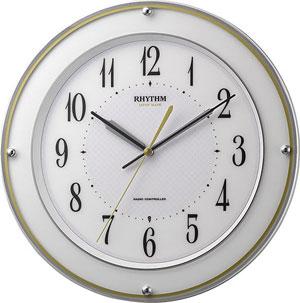 ■リズム時計【ミレディサヤカ】電波掛時計 日本製 8MY510SR03 [代引不可]【楽ギフ_包装選択】