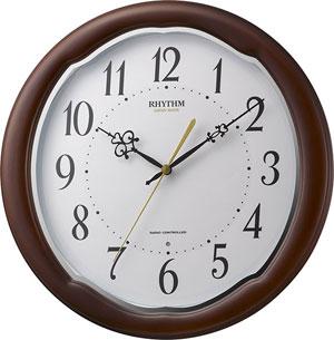 リズム時計■電波掛時計【フィットウェーブアヤW】木枠 8MY513SR06 [代引不可]【楽ギフ_包装選択】