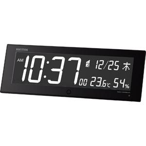 リズム時計◆デジタル電波時計【Iroria G イロリア ジー】掛置兼用 黒 8RZ184SR02 [代引不可]【楽ギフ_包装選択】