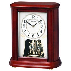 ■SEIKO セイコー【電波置時計】スタンダード 回転飾り 木枠 BY242B【楽ギフ_包装選択】