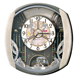 ■SEIKO ディズニータイム 掛け時計【ミッキー&フレンズ からくり電波時計】メロディ付き FW563A [代引不可]【楽ギフ_包装選択】